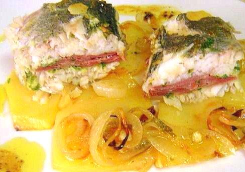 Foto de Filetes de merluza rellenos de Navajas