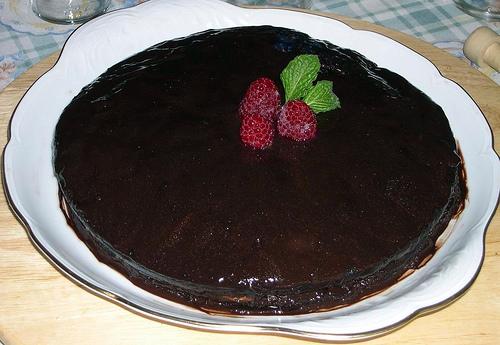Foto de Tarta de cumpleaños de chocolate