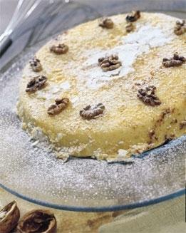 Foto de Tarta de nueces con nata